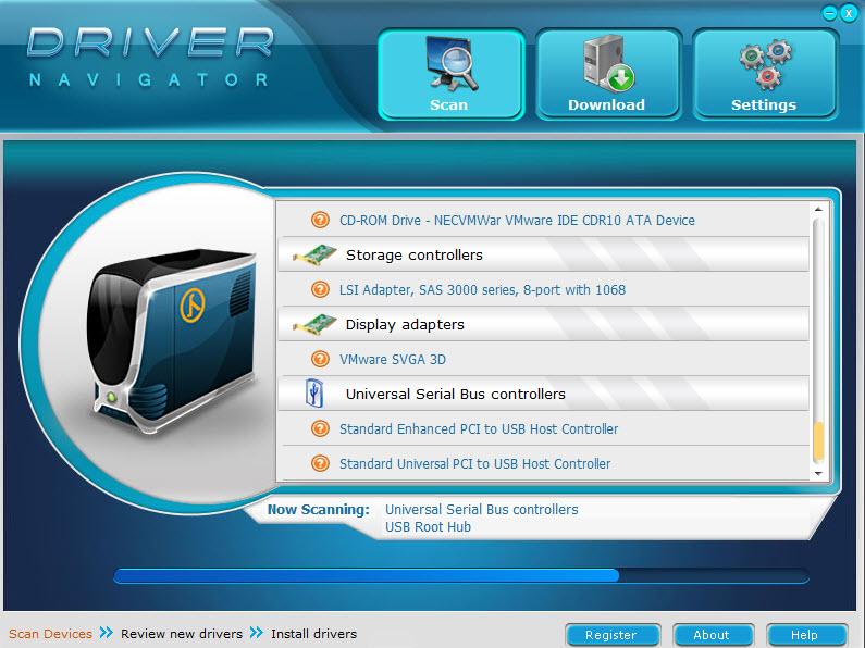 تحميل عملاق البحث عن تعريفات الجهاز وتحديثها برنامج Driver Navigator كامل منشط للكمبيوتر driver-navigator-1-2