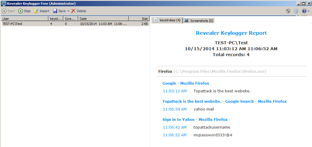 Revealer Keylogger Free Review 2018 - TOPAttack Images